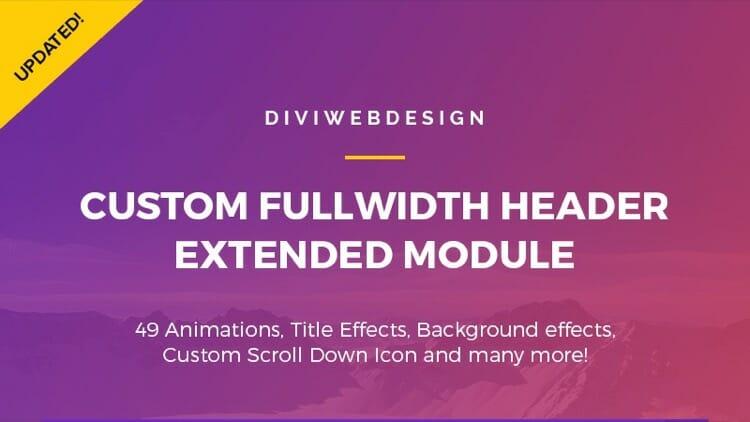 Custom FullWidth Header Extended Divi Plugin