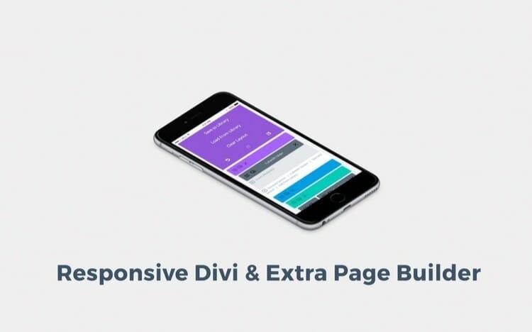 Mobile Friendly Divi Page Builder